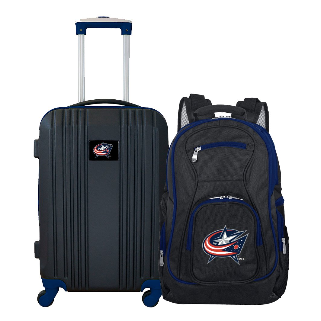 NHL Columbus Blue Jackets 2-Piece Luggage Set by Denco (Image #1)