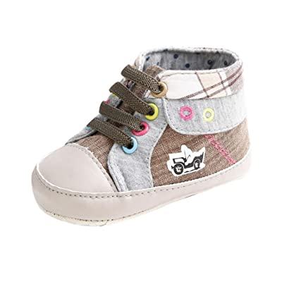 Amiley Baby boots , Baby Casual Lacing Canvas Sneaker Anti-slip Soft Sole Toddler