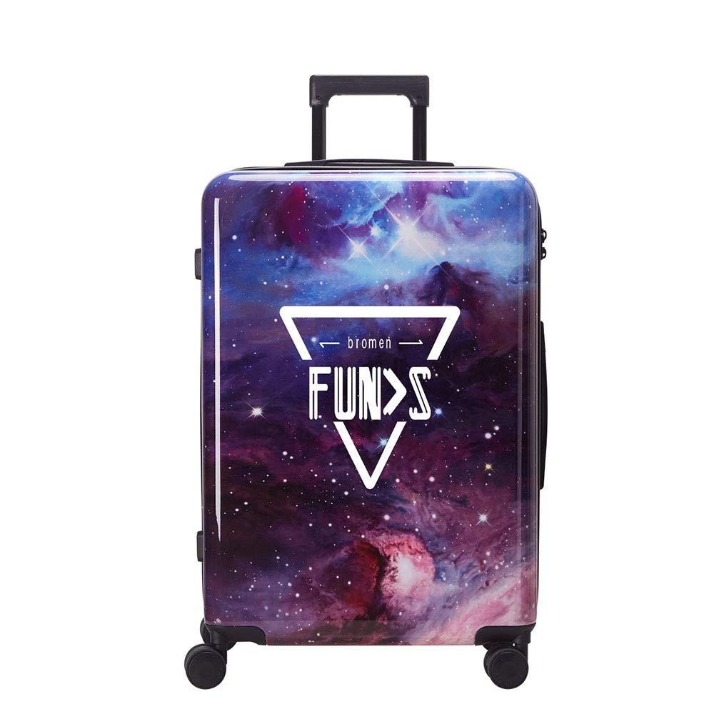 幾何学的な星空印刷ローリング荷物トロリースーツケース男性旅行荷物女性トロリーボックスキャリーオン   B07NZNK277