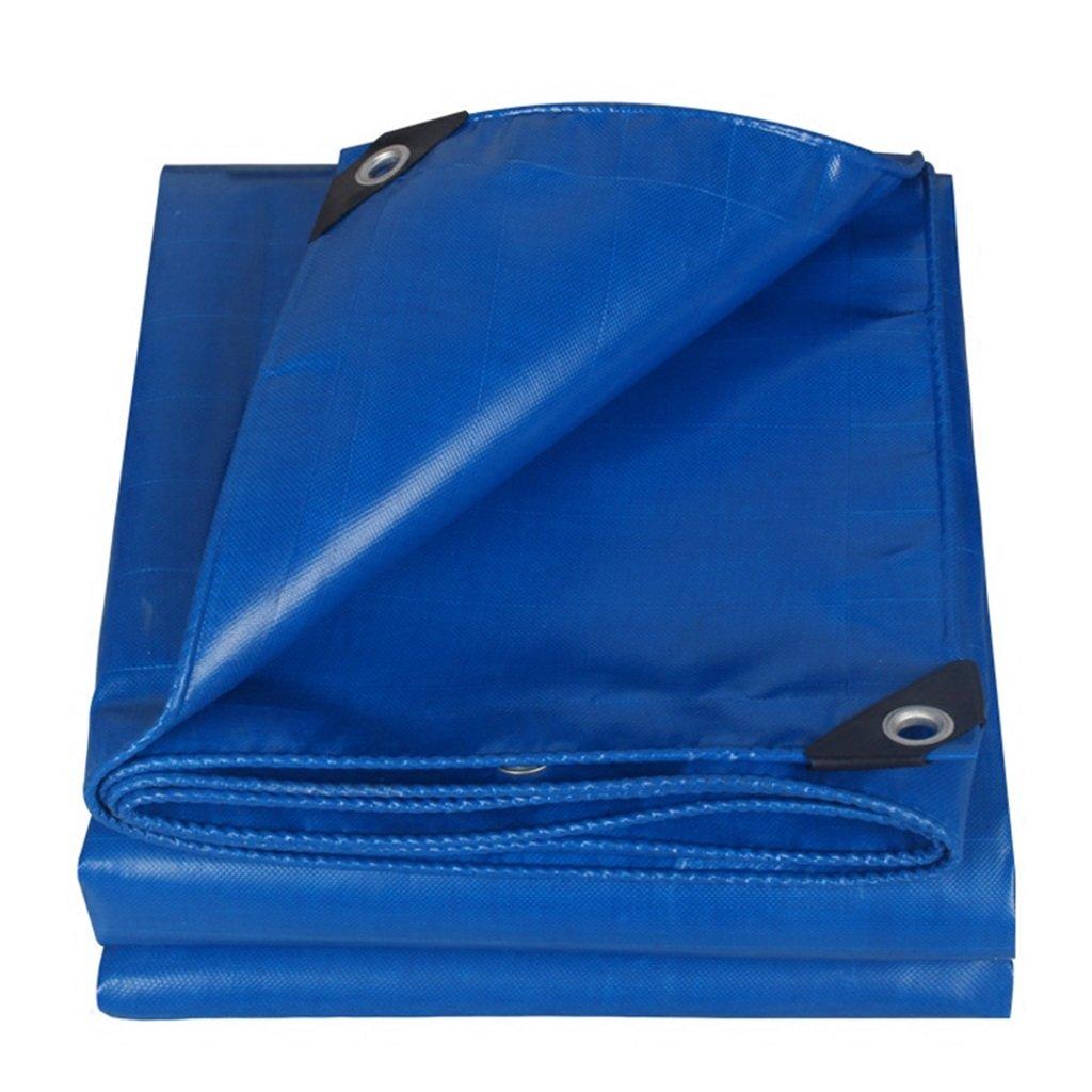 Plane Persenning 100% wasserdicht dauerhafte Qualität Plane Bodenplane Abdeckung für Camping, Angeln, Gartenarbeit, Dicke 0,45 mm, Multi-Größe-Optionen (blau) Abdeckplanen (größe   3MX2M)