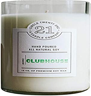 product image for Circle 21 Candles Clubhouse Scented Soy Candle, Clear