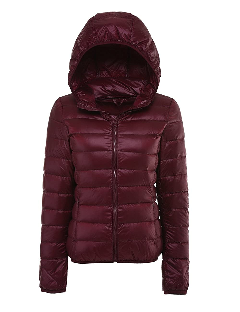 LANBAOSI Women Packable Puffer Jacket with Hoodie Lightweight Down Jacket Coat YRY18002