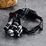 Headlamp 50000LM LED XM-L T6 4 mode Headlight Flashlight head Torch + 2x battery