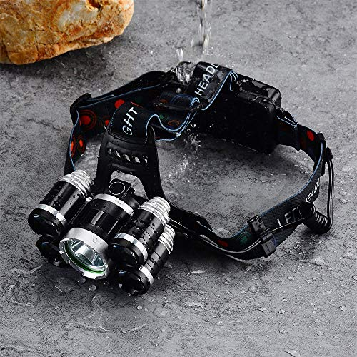Headlamp 50000LM LED XM-L T6 4 mode Headlight Flashlight head Torch + 2x battery by Mont Pele (Image #9)