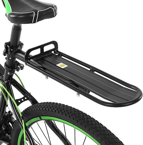 Lixada Portaequipajes Trasero Bicicleta Retráctil Aleación de Aluminio Bastidor del Poste del Asiento Trasero: Amazon.es: Deportes y aire libre