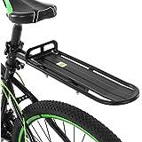 Lixada Rear Bike Rack Bicycle Cargo Rack Adjustable Bike Cargo Rack Aluminum Alloy Mountain Bike Bicycle Rear Rack Bicycle Pa