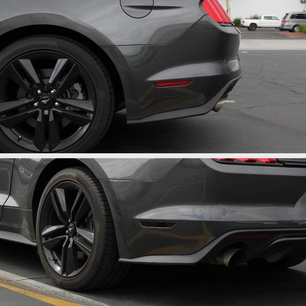 Driver /& Passenger Side VIPMOTOZ Smoke Lens Red Full LED Rear Side Marker Light Parking Lamp For 2015-2020 Ford Mustang S550