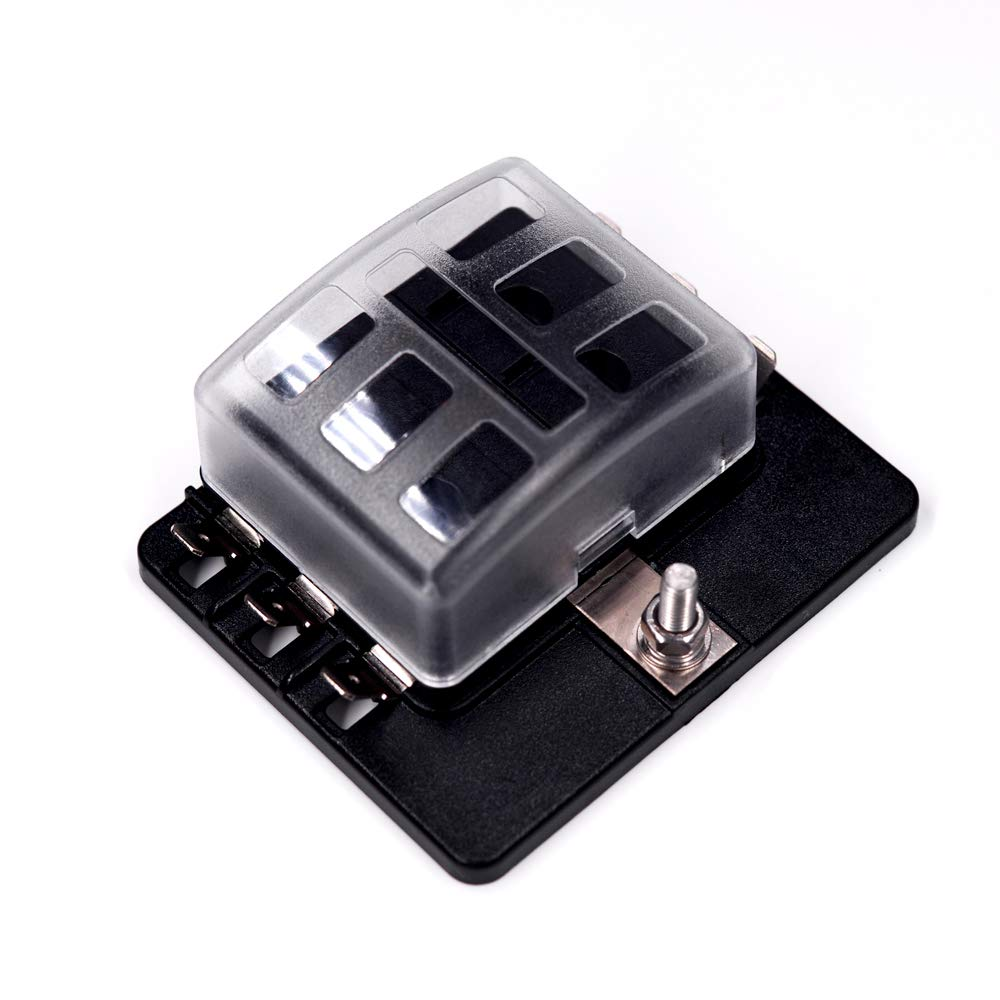 6-way fuse block quick terminal - joyho atc/ato fuse box with led