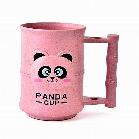 PoeHXtyy Hermosa Dibujos Animados Panda Trigo Paja Bebida Cepillo de Dientes Lavar gárgaras