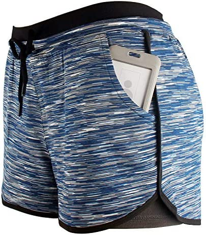 Harewom 2 in 1 Quick Dry Mesh Sports Shorts for Marathon Yoga Exercise Gym Ball Swim Workout Active Athletic Shorts