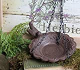 Hanging Birdbath Feeder Cast Iron Patio Garden Yard