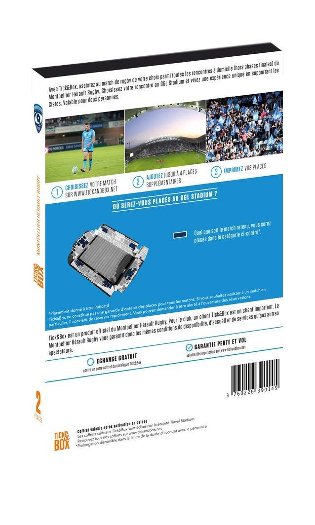 Coffret Cadeau Places Match Montpellier H/érault Rugby Tick/&Box