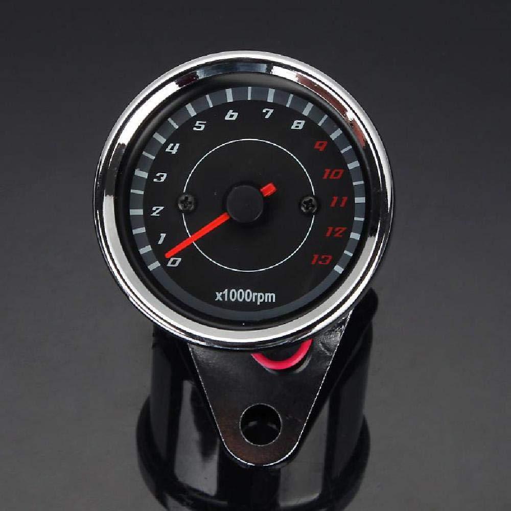 INNOGLOW Motorcycle Tachometer Rev Counter Speedometer Odometer Universal 13000RPM LED Night Light Backlight Tacho Gauge for ATV Honda Yamaha Suzuki Harley Kawasaki Cruisers Harley