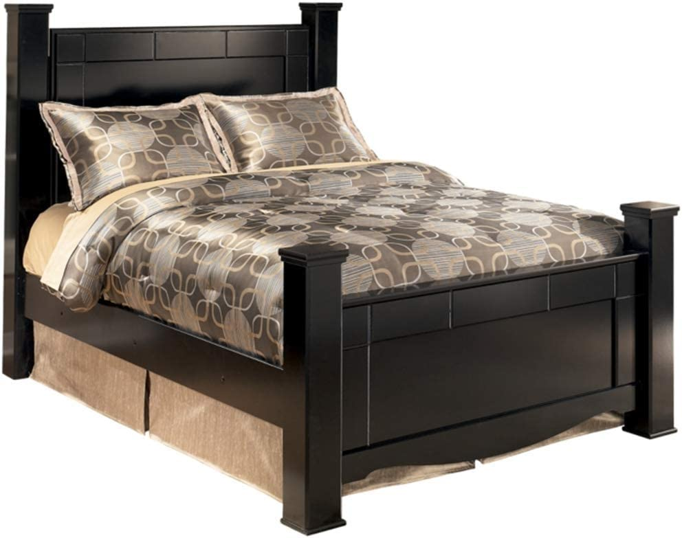 Ashley Furniture Signature Design - Shay Queen Poster Rails - Component Piece - Almost Black