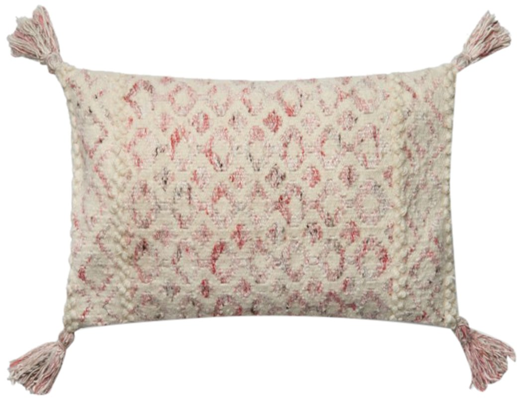 13 x 21 Pink//Multi Loloi P0646 Pillow Cover Only//No Fill