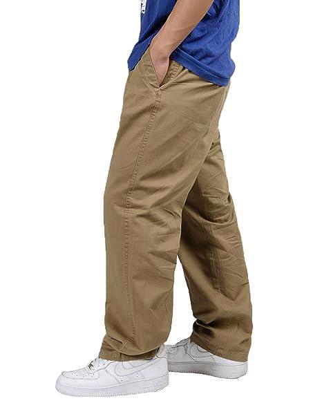 Hip hop uomo grasso pantaloni sciolti casual cotone uomini tuta pantaloni  Plus Size giallo 6XL  Amazon.it  Abbigliamento 6617f6fa850b