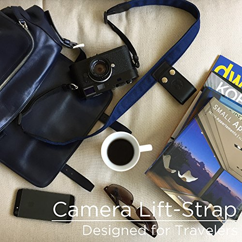 PONTE Camera Lift-Strap, Design for Travelers, Canvas, Midnight Blue