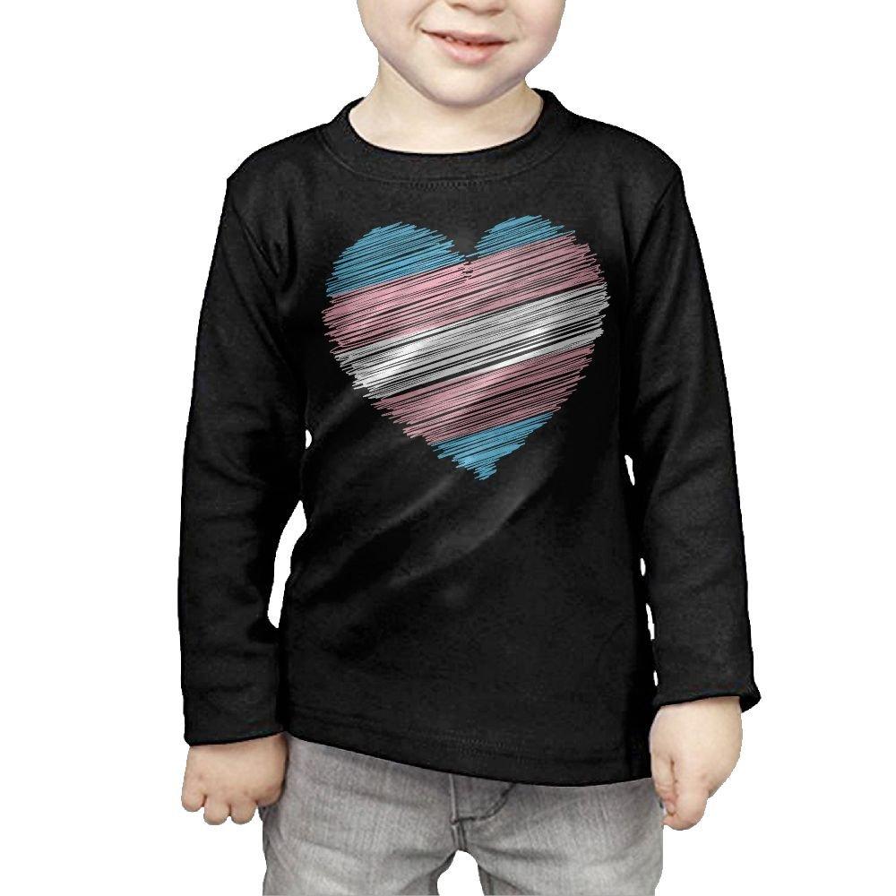 CERTONGCXTS Baby Boys Kids Transgender Flag Heart ComfortSoft Long Sleeve Shirt