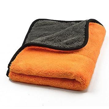 NUOMI Toallas de Cuidado del Automóvil Pulido Cera Lavado Secado Super Grueso Microfibra Felpa Paño de Limpieza del Coche: Amazon.es: Coche y moto
