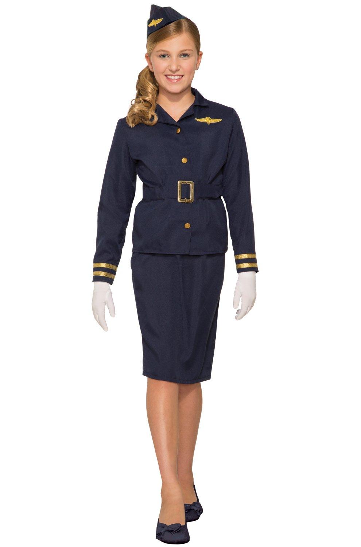 Forum Novelties Stewardess Costume, Multi Color, Medium
