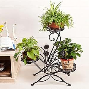 LLDHUAJIA LIANGLIANG Flor De Hierro Racks Multi-Piso-Balcón Potted Planta Rack Estante De Estilo Europeo Simples De La Sala De Estante Flower Pot Rack (Color : C)