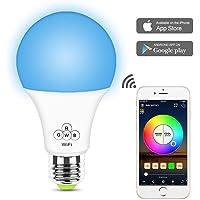 Glantop - Bombilla LED WiFi inteligente, compatible