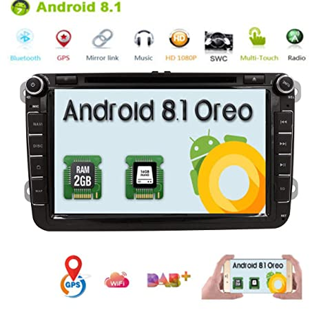 HIZPO Android 7.1 OS Quad Core Car In Dash DVD Player with GPS ...