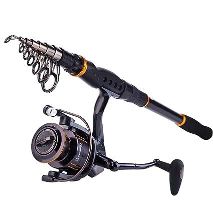 Amazon Com Sougayilang Fishing Rod Reel Combos Collapsible