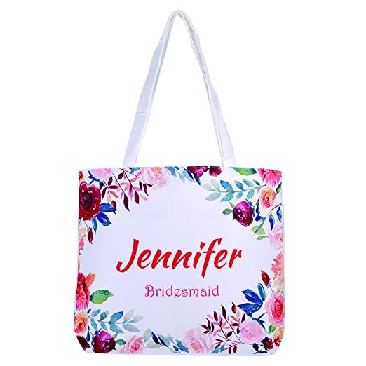 Personalized Tote Bag Custom Bridal Party Bag Bridesmaid Gift Bag Canvas Tote Bag