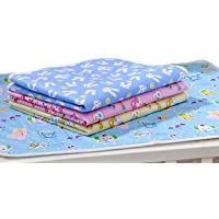 Fareto Nappy Changing Mat/Sleeping mats/Water Proof Bed Protector with Foam Cushioned for New Born Baby 4 Sheets (0-6 Months)