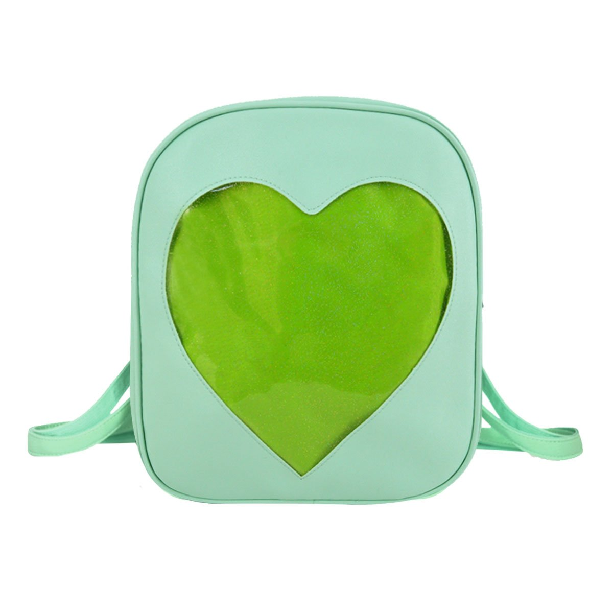 Heidi Bag Clear Candy Backpacks Teenager Ita Bag Transparent Love Heart School Bags Girls Kids Satchel