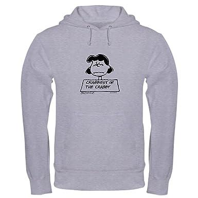 f91f74d95 Amazon.com: CafePress Peanuts Snoopy Crabby Lucy Hooded Sweatshirt: Clothing