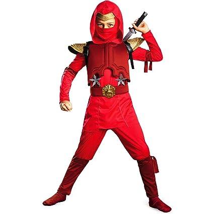 Amazon.com: Disfraz Shadow Ninja Rojo Fire Ninja disfraz ...