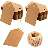 Kraft Paper Tags - 200PCS Kraft Paper Blank Gift Tags with 30 Meters Twine for Arts and Crafts, Wedding Christmas…