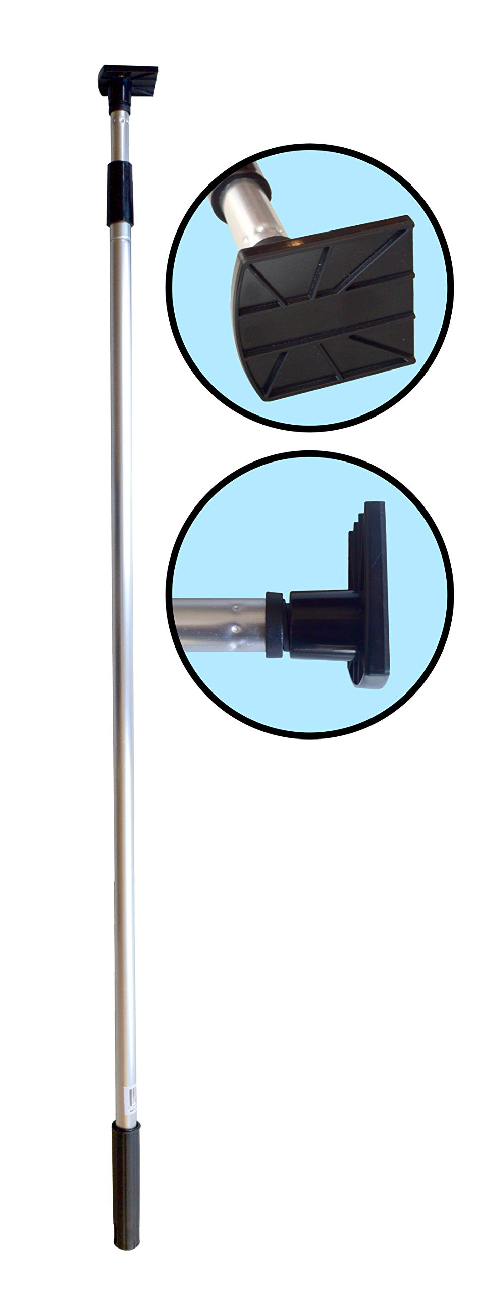 Gutter Hoe - Gutter Cleaning Tool. Telescopic Pole with attached Scraper Blade. by Unique Implements Online