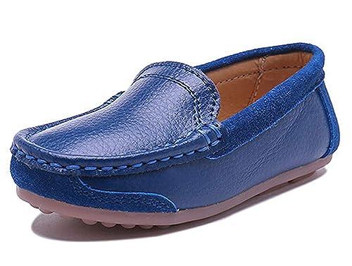 Mocasines de Piel para Niños,Chicos Chicas Pisos Moda Loafers Niña Comodidad Casual Zapatos para Caminar: Amazon.es: Zapatos y complementos