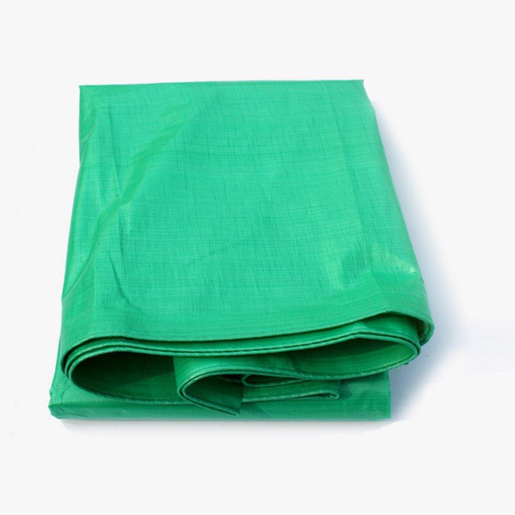 厚手のターポリンターポリンプラスチックファブリックターポリンサンシェードサンスクリーンファブリックカーターポリン (色 : Green, サイズ さいず : 6 * 8m) B07FLVL6FL 6*8m|Green Green 6*8m