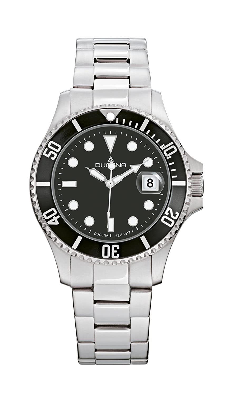 Dugena Herren-Armbanduhr Taucher Analog Quarz Edelstahl 4460421