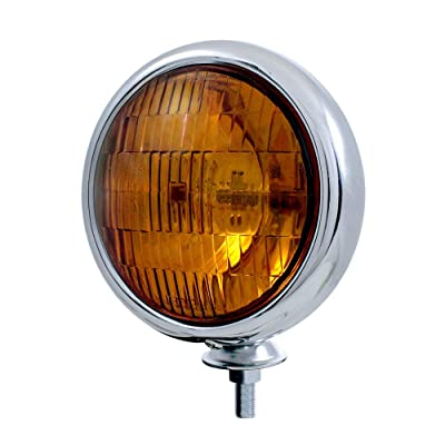United Pacific C364007 Chrome Vintage Style Amber Fog Lights-12 V: Automotive
