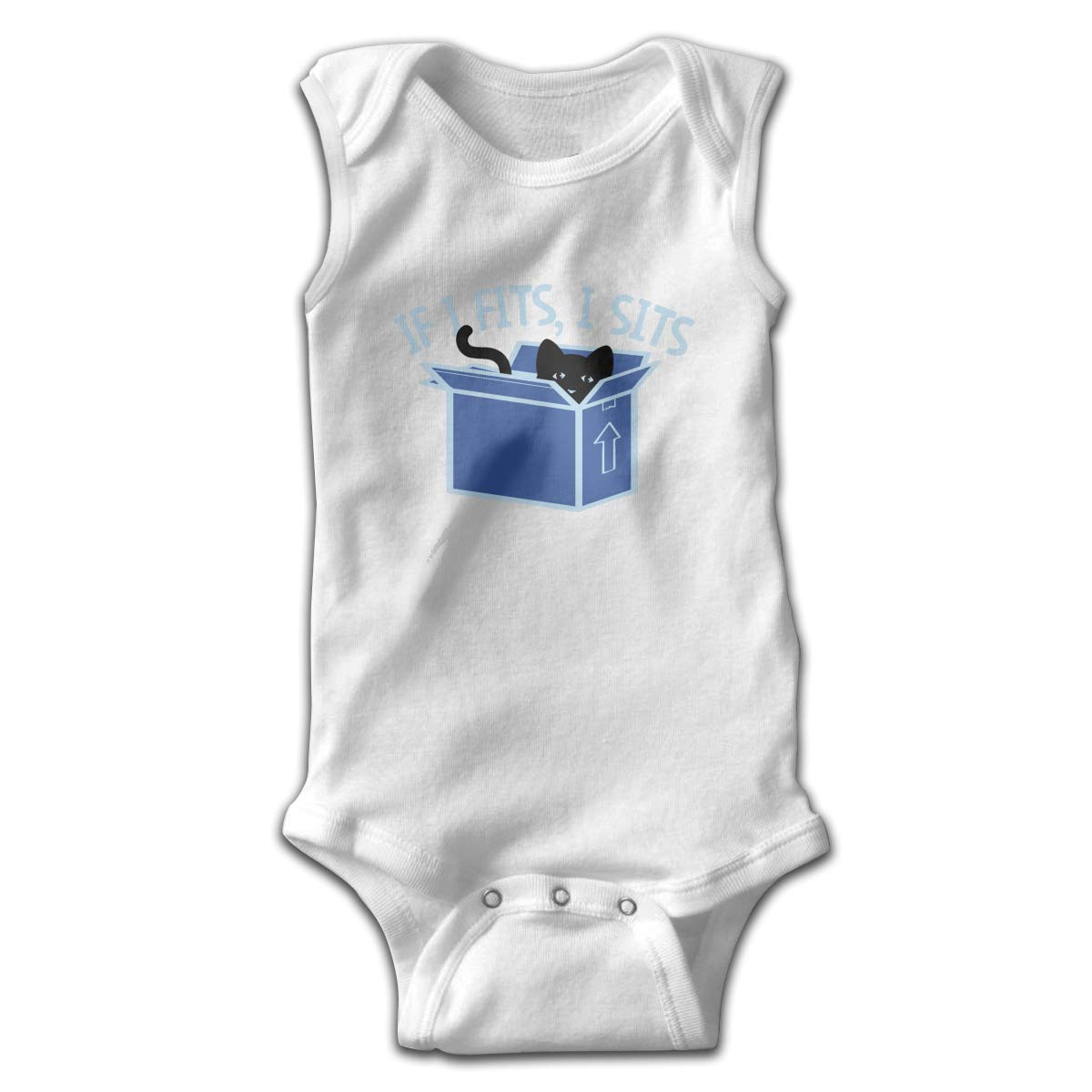 Toddler Baby Girls Rompers Sleeveless Cotton Onesie,If I Fits I Sits Outfit Spring Pajamas