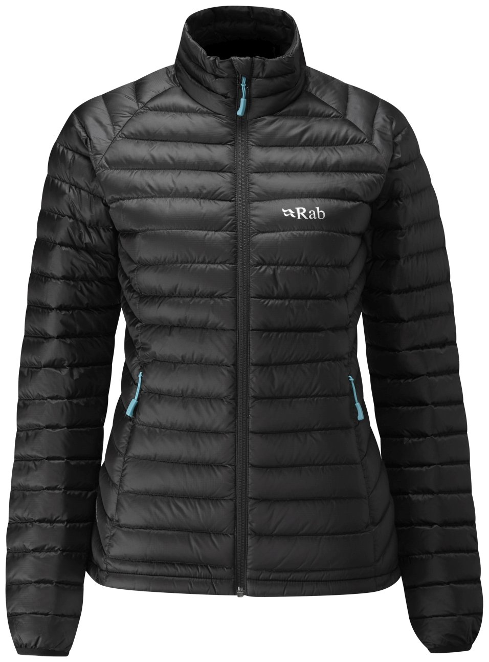 Rab Microlight Jacket - Women's Black/Seaglass Large