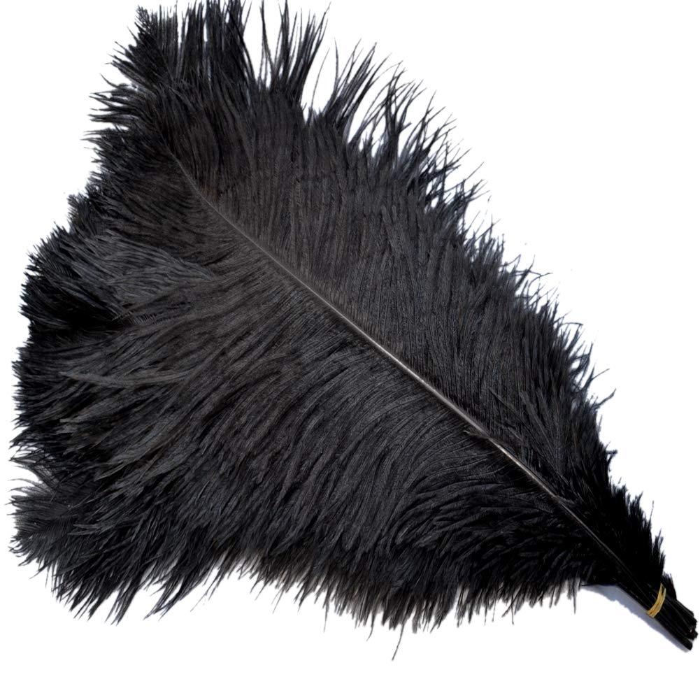 Sowder 5pcs Ostrich Feathers 16-18inch(40-45cm) Home Wedding Decoration(black) fashion_feather
