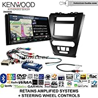 Volunteer Audio Kenwood Excelon DNX994S Double Din Radio Install Kit with GPS Navigation Apple CarPlay Android Auto Fits 2010-2012 Fusion (Black) (Retains steering wheel controls)