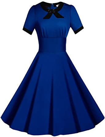 Blue Retro Bridesmaid Dresses