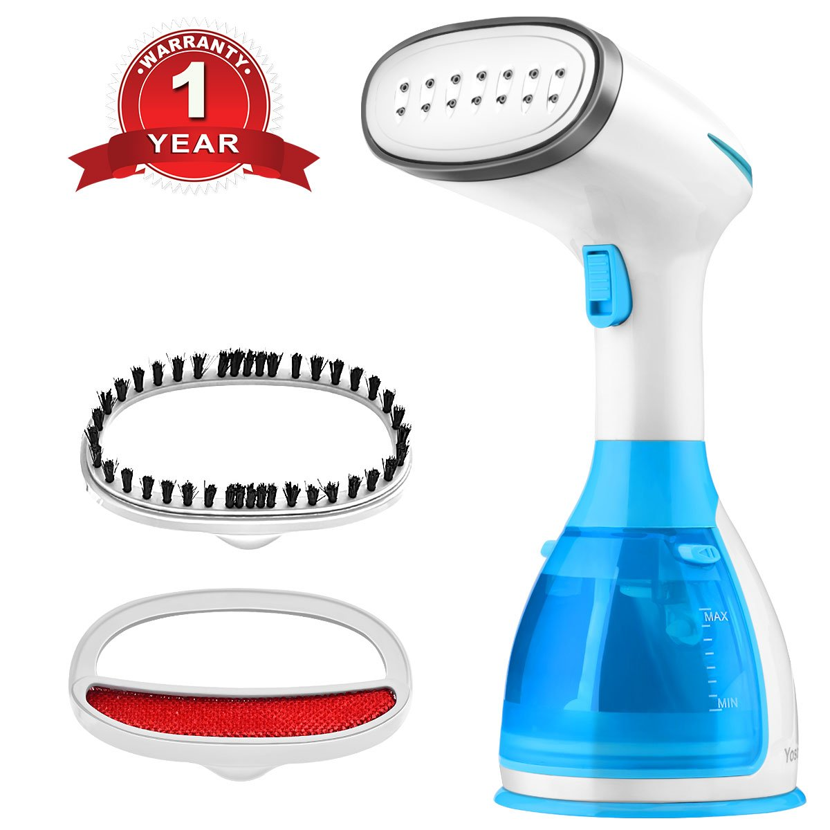 Steamers for Clothes, Yosoo Fabric Steamer, Handheld Garment Steamer, Fast Heat-up with 280milliliter Capacity Portable for Home and Travel Semme