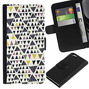 All Phone Most Case / Oferta Especial Cáscara Funda de cuero Monedero Cubierta de proteccion Caso / Wallet Case for Apple Iphone 6 // Art Geometrical Triangle