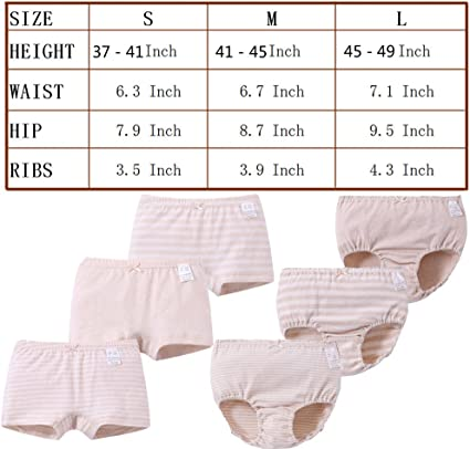 Setaria Virids Toddler Girls Underwear Organic Cotton 4 Pack Boxer Briefs Baby Kids Undies