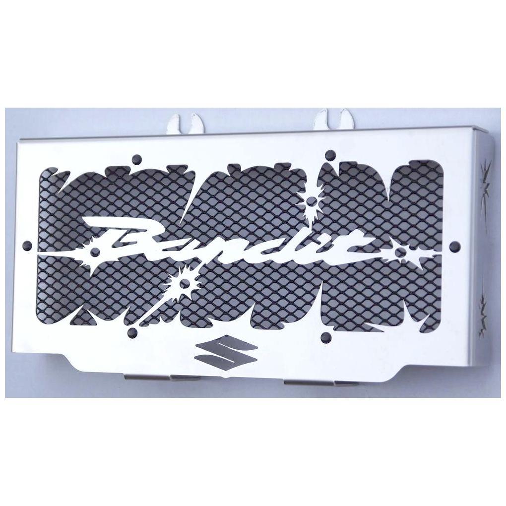 cache radiateur/grille de radiateur Suzuki GSF 600 Bandit 95>04 et 650 Bandit 05>06 design Hold up + grillage noir Wiltuning