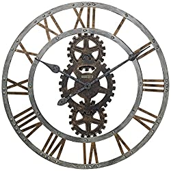Crosby Wall Clock in Warm Gray Iron