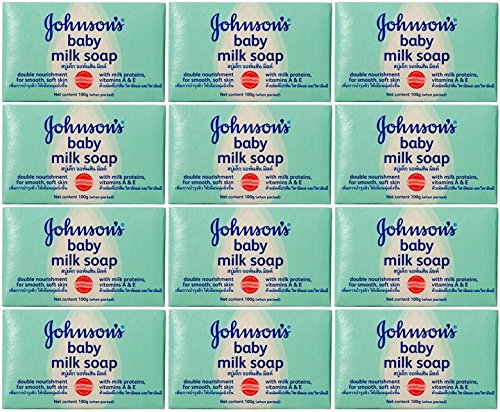johnson-johnson-baby-milk-soap-with-milk-proteins-vitamins-a-e-35-oz-100-g-pack-of-12